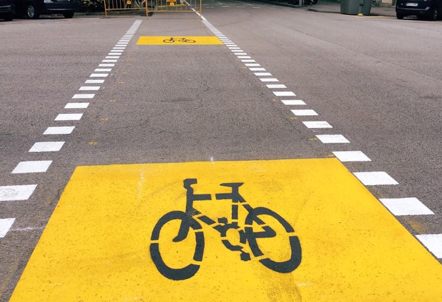 自転車専用レーン