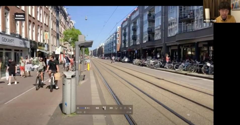 5月中旬のアムステルダムの様子