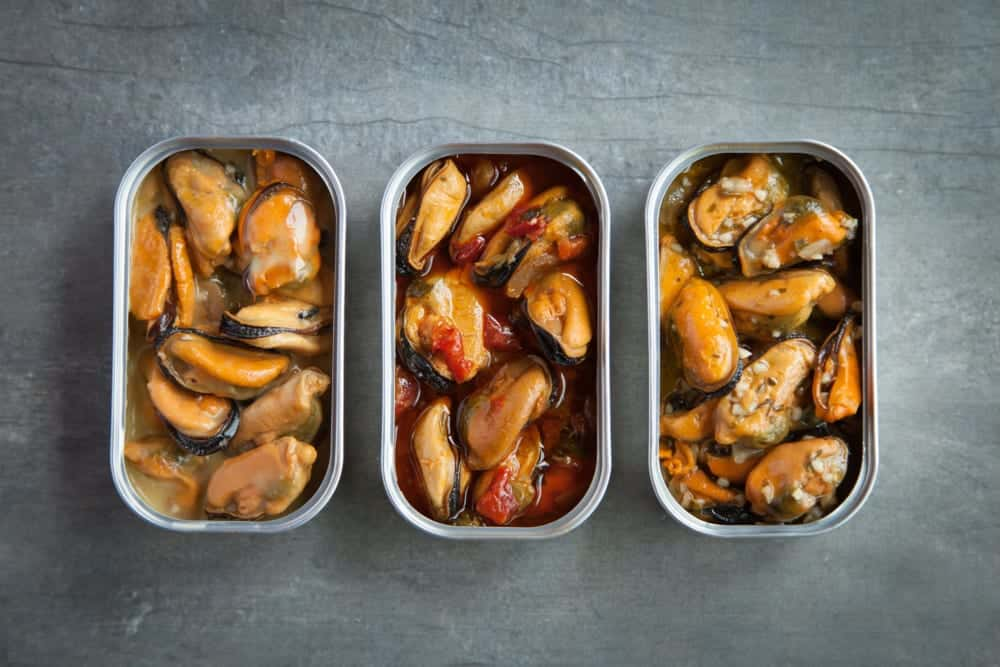 昨年販売を開始したムール貝の缶詰