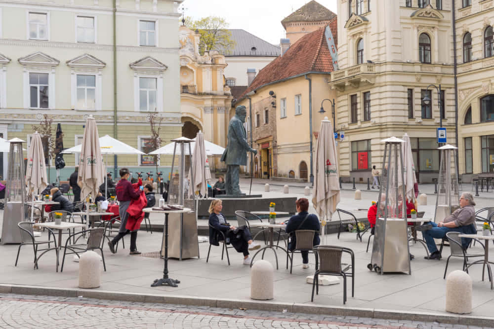 リトアニアのカフェ
