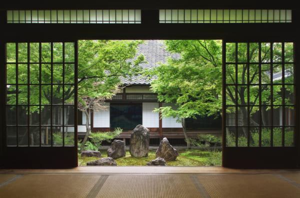 京都の家の縁側