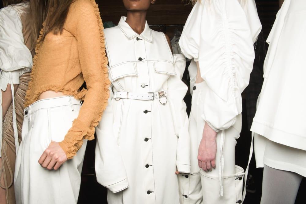 スラリとしたファッションモデルたち