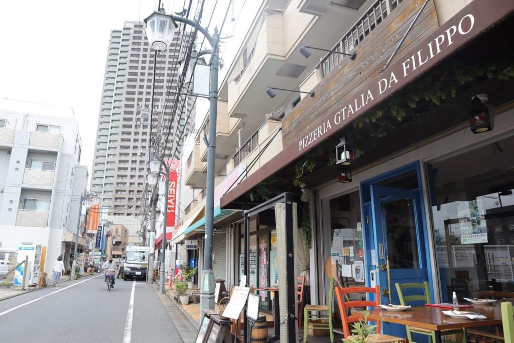石神井公園の商店街