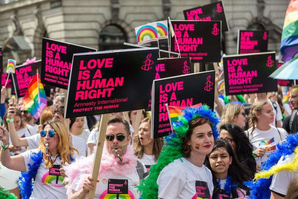LGBTQパレードの様子