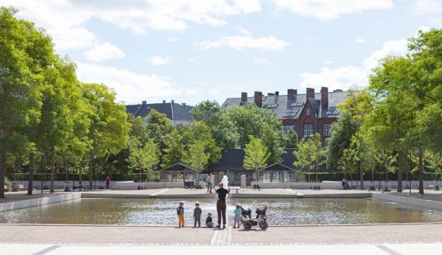 コペンハーゲンの公園