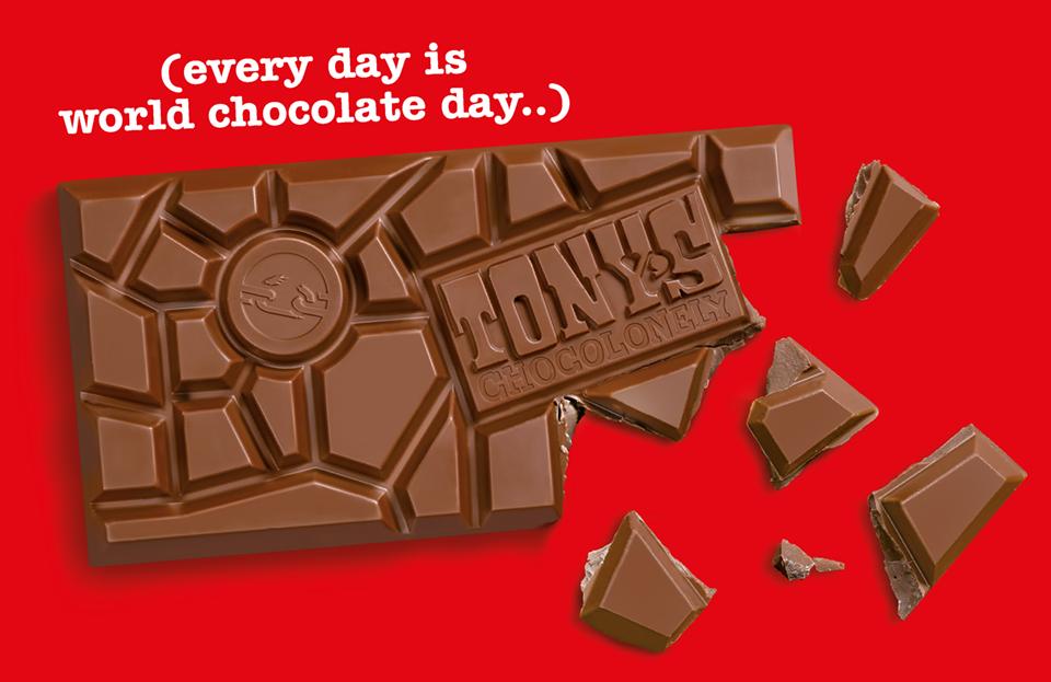 不揃いなチョコレートの割れ目