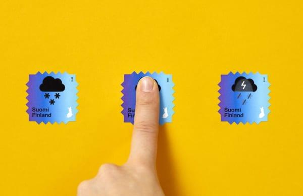 気候変動の影響を伝えるアート切手