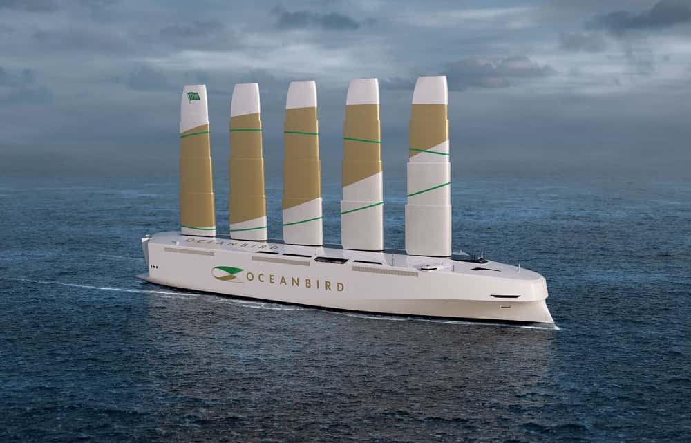 風力で動く世界最大級の大型貨物船「Oceanbird」