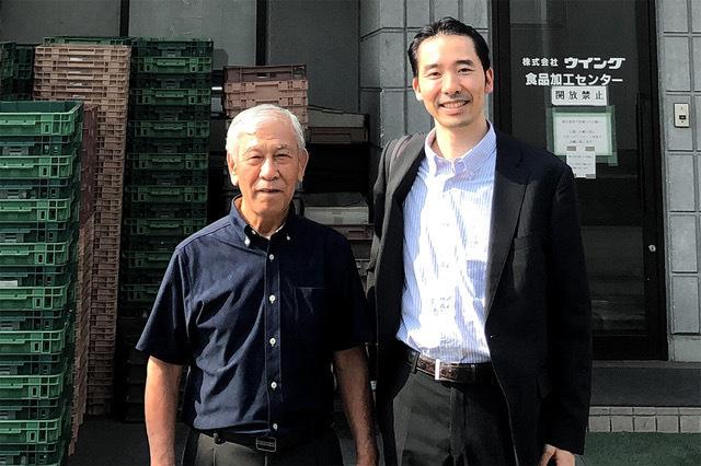 写真左:開発者 山下幸男 さん 写真右:IP SHOWCASE代表 納 公明さん