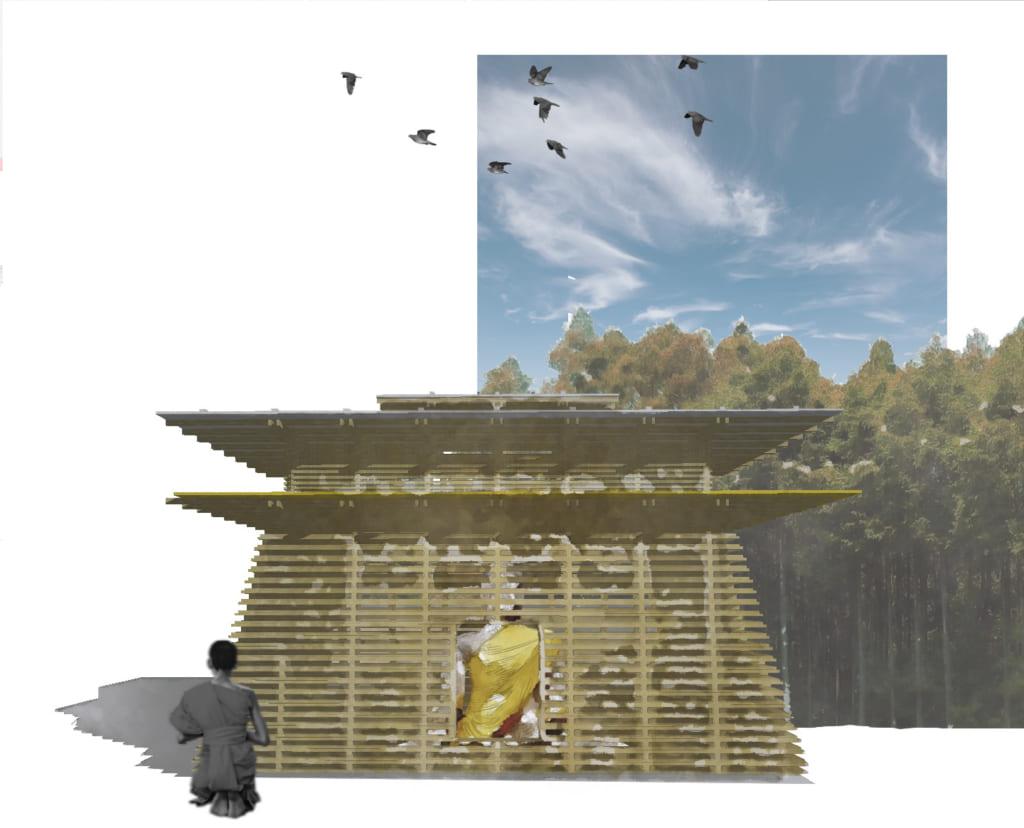 大井さんがデザインしたタイの仏教寺院