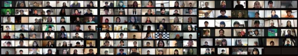 オンライン座学セッション時の集合写真