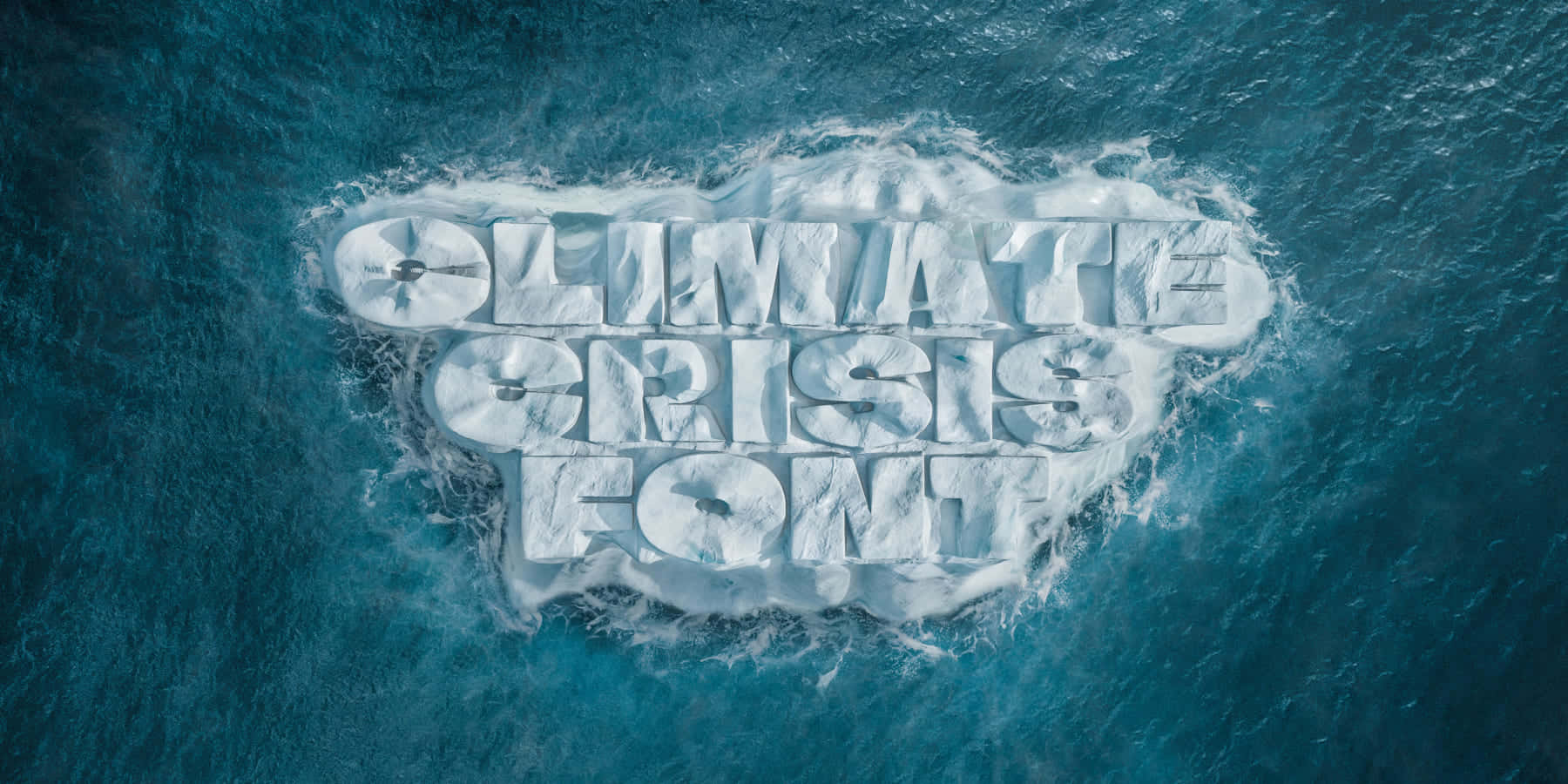 気候危機の真実を伝える、溶けていくフォント「Climate Crisis Font」