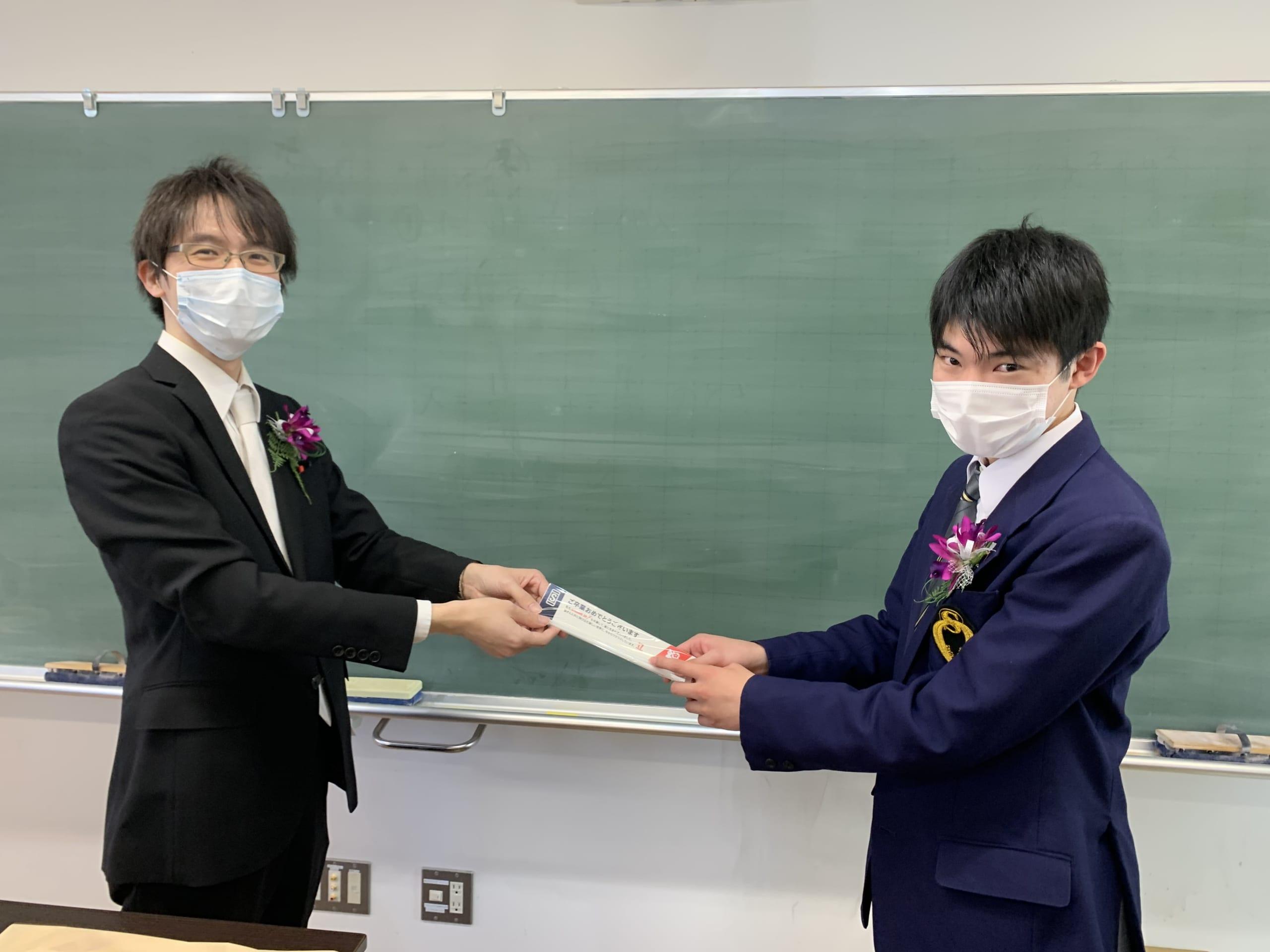 卒業式で手渡される箸