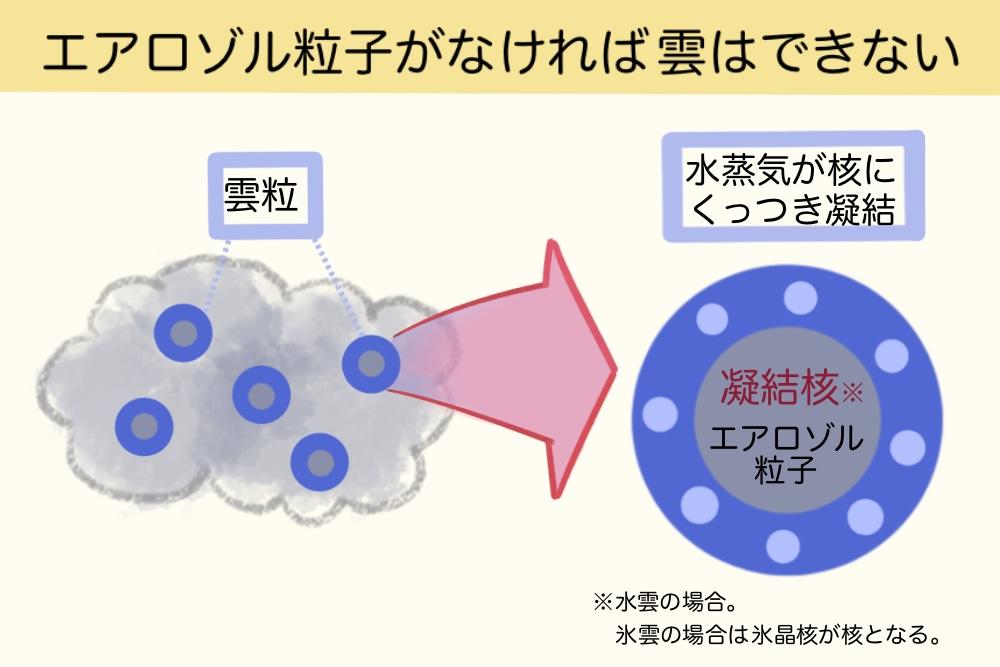 エアロゾルと雲粒