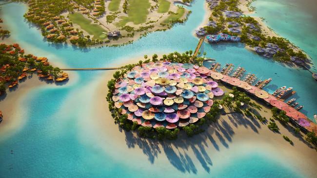 サウジアラビアの再生観光の島