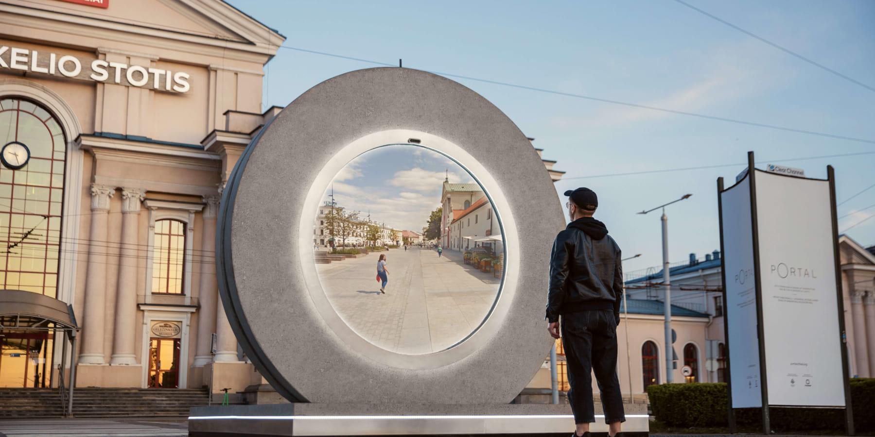 リアルタイムで都市と都市を結ぶ窓「Portal」