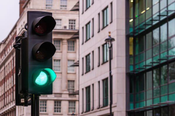 ロンドンの信号機