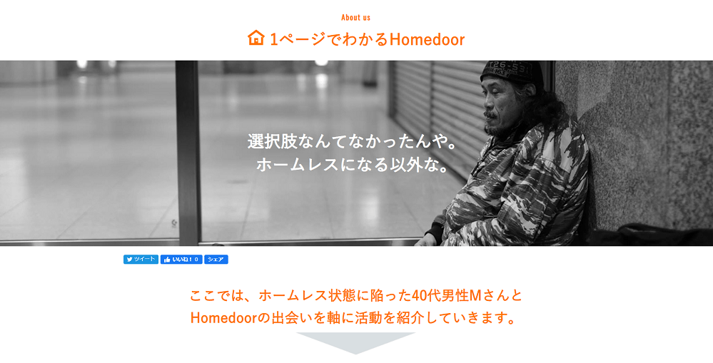 Homedoorのウェブサイト