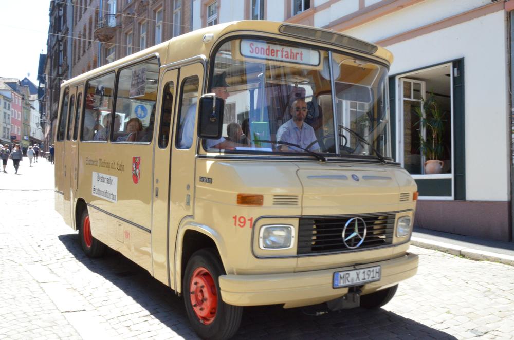 マールブルクの街を走るバス