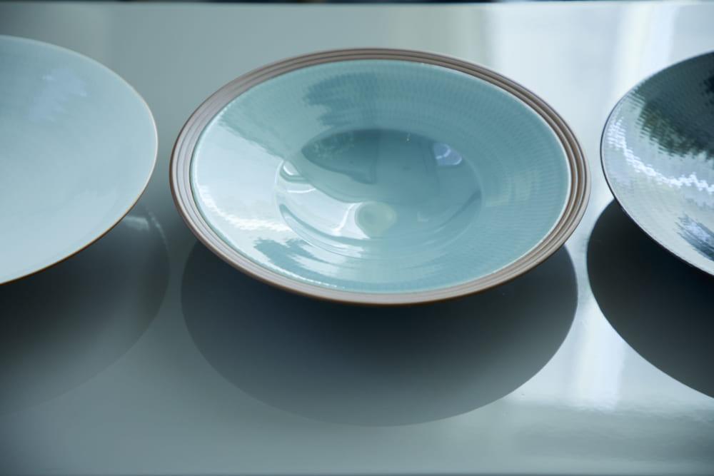 京都府 蘇嶐窯 涌波蘇龍氏 パスタを入れるお皿「Cappello di prete(牧師さんの帽子)」